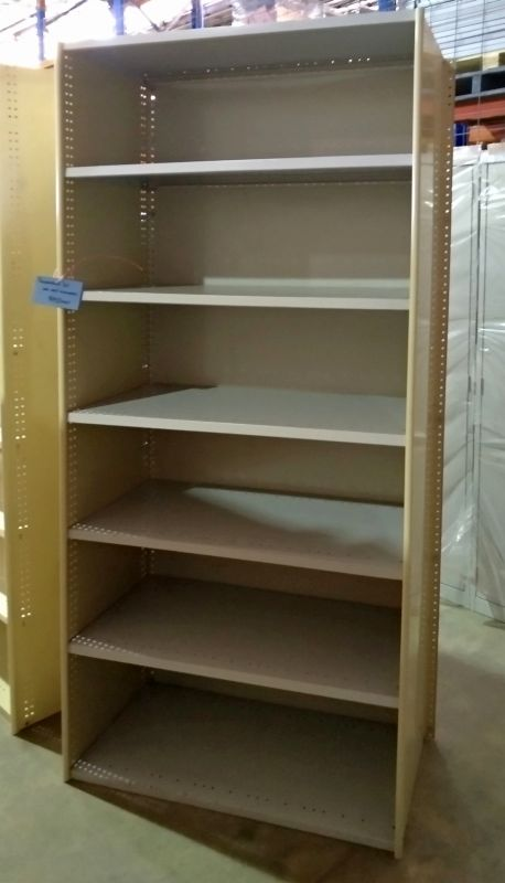 1 Bay Secondhand RUT Shelving with 7 Shelves
